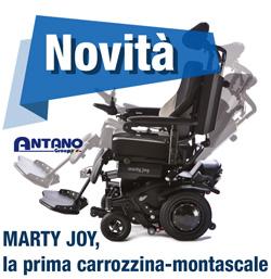 Marty joy carrozzina elettronica montascale