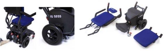 montascale a ruote con poltroncina per disabili