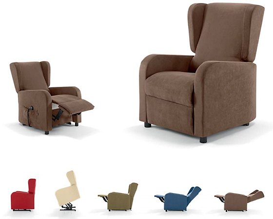 Poltrone relax per anziani e disabili ergonomica a domicilio