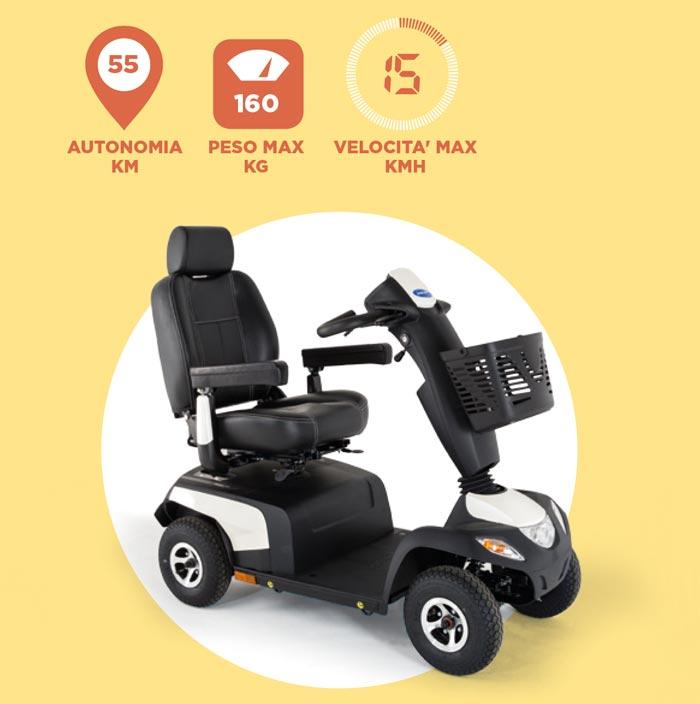 caratteristiche tecniche scooter elettrico Orion PRO